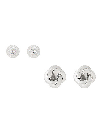Ball & knot earring duo by Lane Bryant