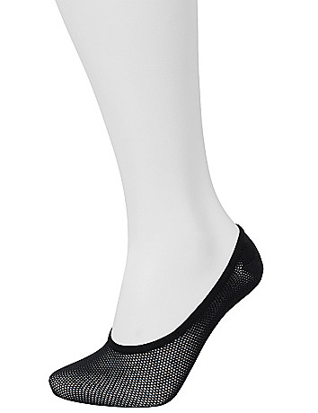 Basket Weave Foot Liners Sock Set by Lane Bryant