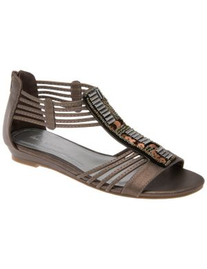 Sequin gladiator sandal