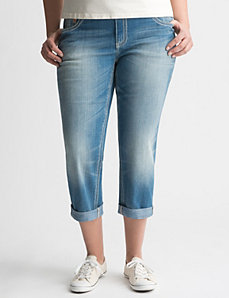 Rolled cuff denim crop by Seven7