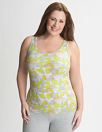 Full Figure Camo Racer Back Tank by Lane Bryant