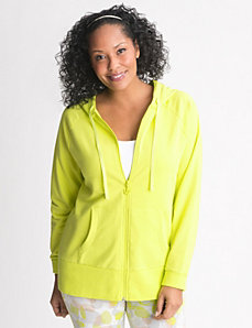 Plus Size Long Sleeve Hoodie by Lane Bryant