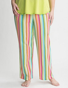Striped knit sleep pant by Cacique
