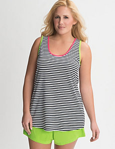 Striped tank sleep set