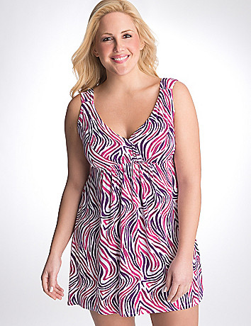 Colorful zebra knit chemise