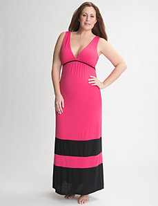 Colorblock sleep maxi by Cacique