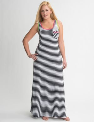 Color pop striped sleep maxi