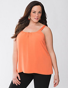 Lane Collection grosgrain trim tank by Lane Bryant