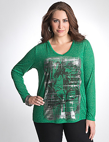 Full Figure Graphic Hoodie by Lane Bryant