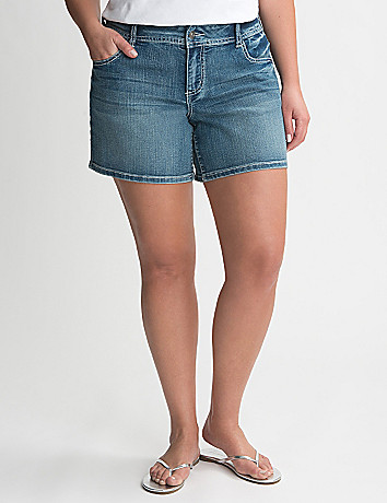 Full Figure Sequin Pocket Jean Short