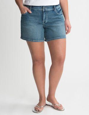 Sequin pocket jean short