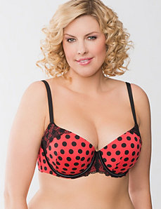 Lace Trim Smooth Boost Demi Bra by Cacique