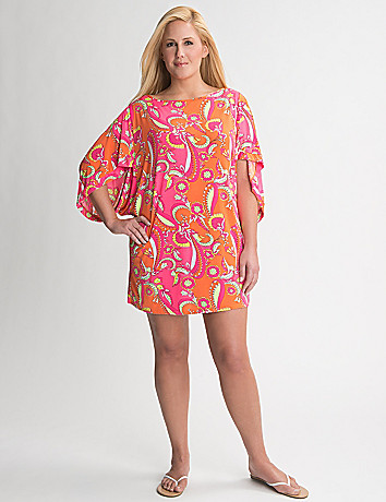 Plus Size Paisley Swim Cover Up by Cacique
