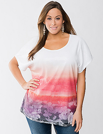 Ombre sequin tee by Seven7