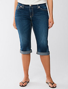 Thick stitch denim capri by Seven7