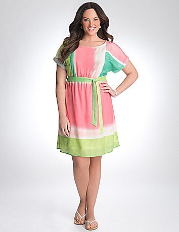 Full Figure Colorblock Dress by Lane Bryant