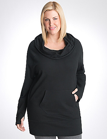 Plus size cowl neck tunic