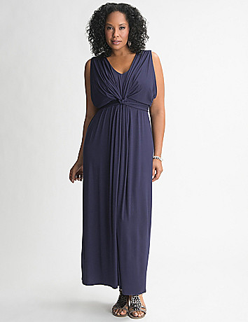 Knot Front Maxi Dress by Lane Bryant