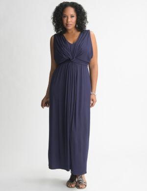 Knot front maxi dress