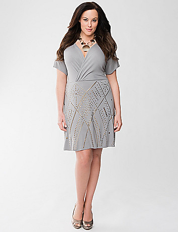 Lane Collection studded dress