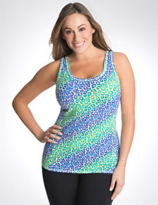 Rainbow animal racer back tank