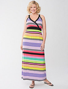 Multi stripe maxi dress
