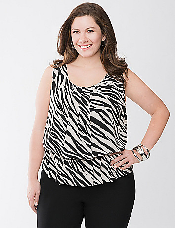 Zebra peplum top