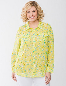 Sheer print Top by Lane Bryant