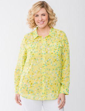 Sheer print blouse