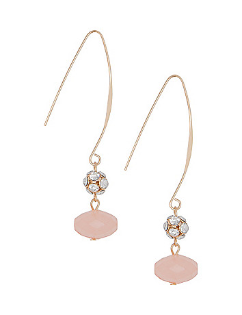 Faceted Stone Drop Earrings by Lane Bryant