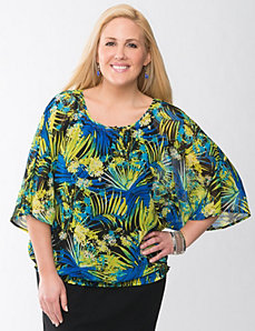 Palm print drama top by Lane Bryant