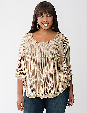 Plus Size Circle Cut Poncho by Lane Bryant