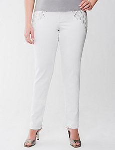Lane Collection embellished skinny jean by LANE BRYANT