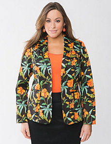 Floral sateen jacket by Lane Bryant