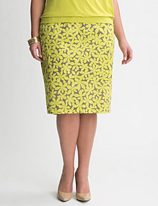 Daisy sateen pencil skirt