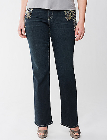 Lane Collection Embellished Bootcut Jean