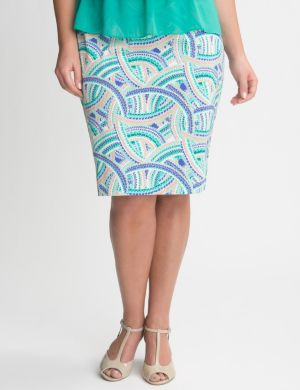 Scalloped arches pencil skirt