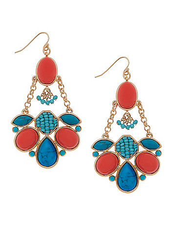 Lane Collection beaded chain earrings