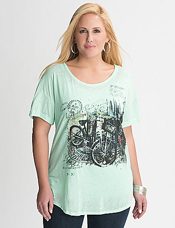 Plus Size Bike Graphic Tee by Lane Bryant