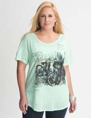 Sequin bicycle tee