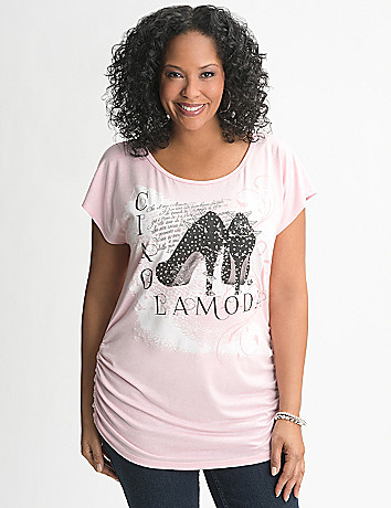 Glam Shoe Graphic Tee by Lane Bryant