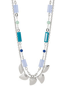 Nested shark teeth necklace by Lane Bryant