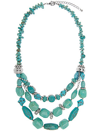 Lane Collection nested turquoise necklace