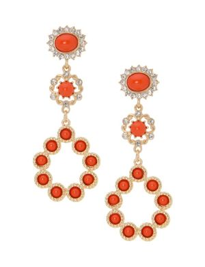 Lane Collection tiered drop earrings