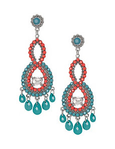 Button back chandelier earrings by Lane Bryant