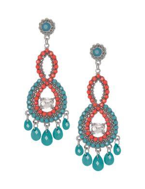 Button back chandelier earrings by Lane Bryant