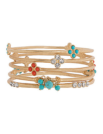 Lane Collection 5 row bangle set