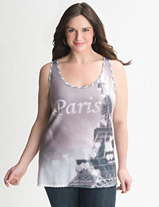 Paris sequin tank