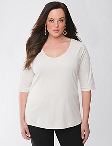 Lane Collection plus size V neck tee