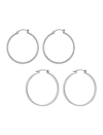 Hoop earrings duo by Lane Bryant